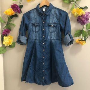 JUSTICE Girls Denim Shirt Dress